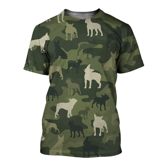 Boston Terrier Camoufla 3D Shirt