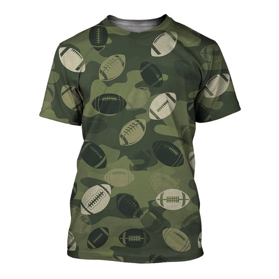 Football Camoufla 3D Shirt