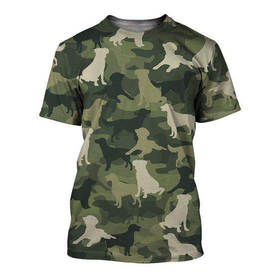 Flat-Coated Retriever Camoufla 3D Shirt