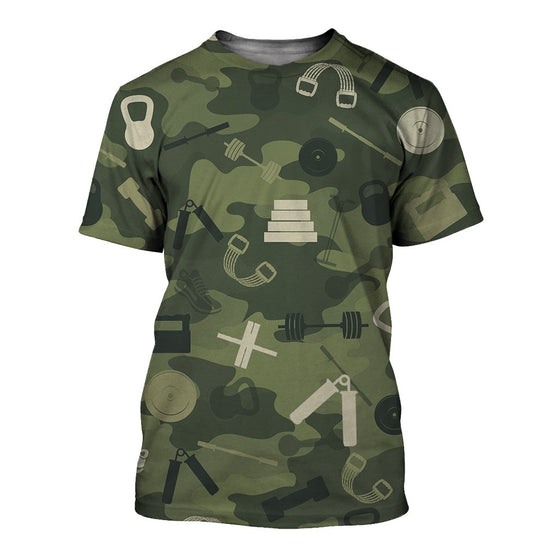 Gym Camoufla 3D Shirt