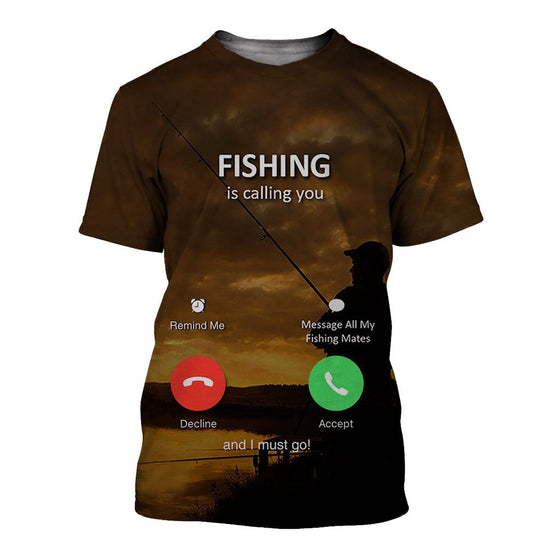 Fishing Is Calling You 3D Shirt