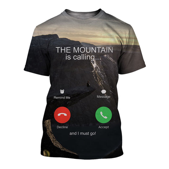 Hiking Calling 3D Shirt