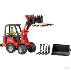 Schäffer 2034 Compact loader with play figure and accessories Scale Model 1/16