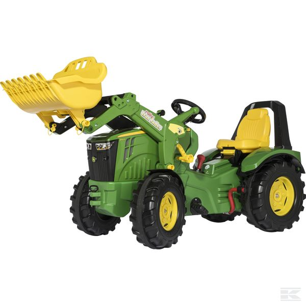 X-Trac John Deere 8400R with frontloader and brake