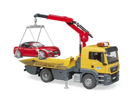MAN TGS tow truck with Bruder roadster and L+S Module