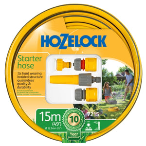 HOZELOCK STARTER HOSE 15m including Sprayer