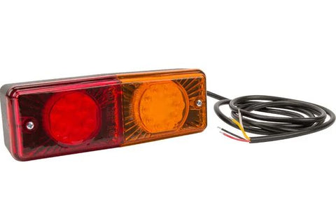 Ifor Williams Livestock Trailer rear light LED, rectangular, 12-24V, 200x70x60mm