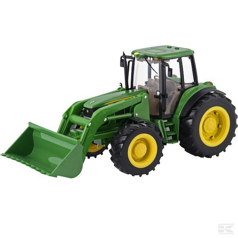 Big Farm John Deere 6830 tractor with dual wheels and loader
