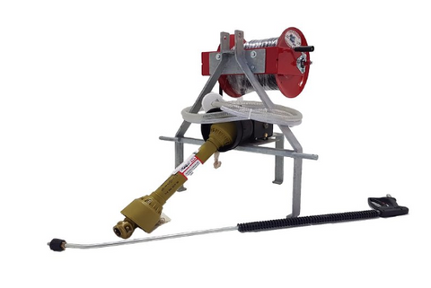 AR PTO TRACTOR WASHER COMPLETE WITH REEL AND 100FT OF HOSE