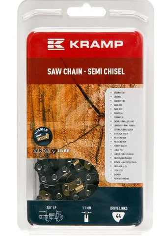 "Saw chain 3/8"" 1.1mm 44 DL semi chisel Kramp Hobby gasoline chainsaws / Electrical chainsaws"