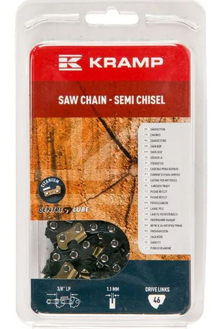 "Saw chain 3/8"" 1.1mm 46 DL semi chisel Kramp Hobby gasoline chainsaws / Electrical chainsaws"