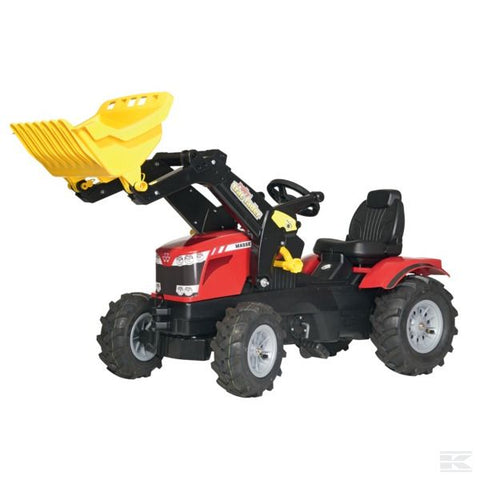 Massey Ferguson 8650 with front loader and air wheels