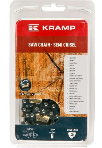 "Saw chain 3/8"" 1.3mm 40 DL semi chisel Kramp Hobby gasoline chainsaws / Electrical chainsaws"