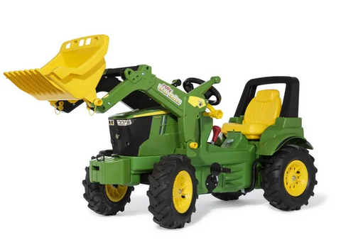 John Deere 7310R with front loader and pneumatic tyres