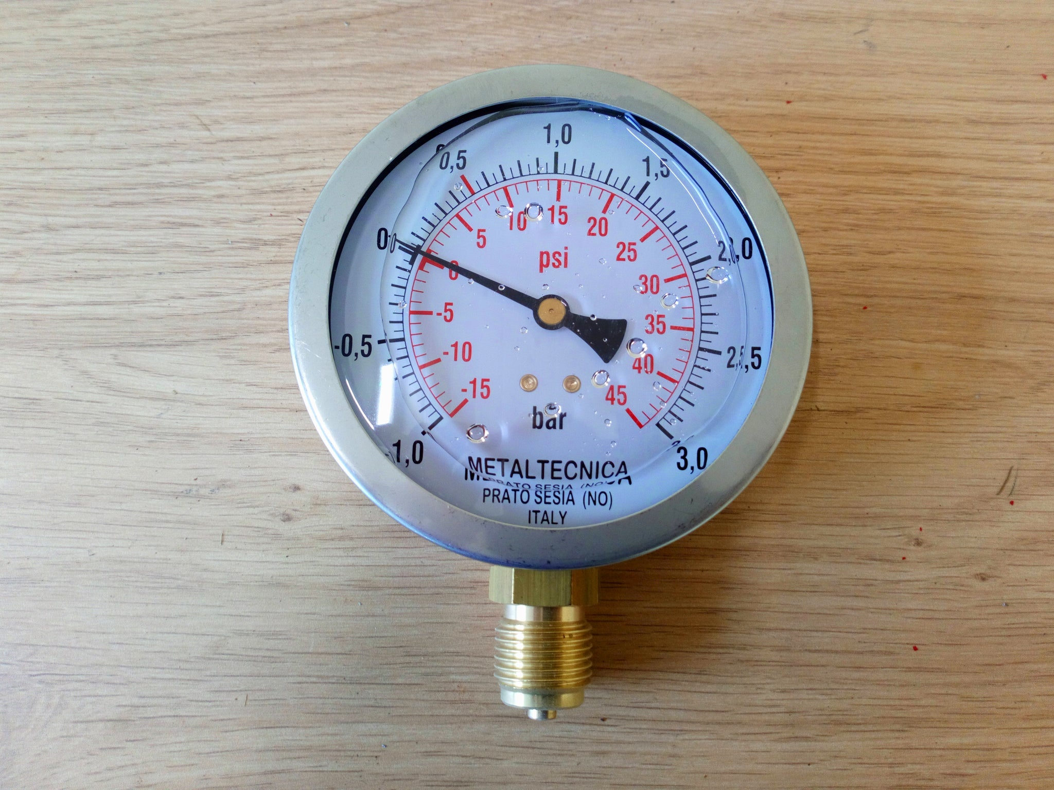 100 MM Glycerin Filled Pressure Gauge 1/2""