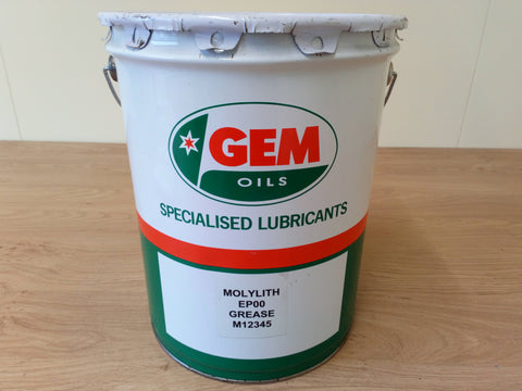 Gem Oils 12.5 Kg Bucket Of EP00 Molylith Semi Fluid Grease