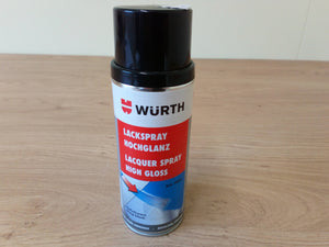 Wurth High Gloss Black 400ml Aerosol