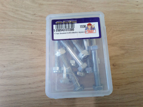 Gwaza Packet Of 10,  8.8  8x50  Shear Bolts