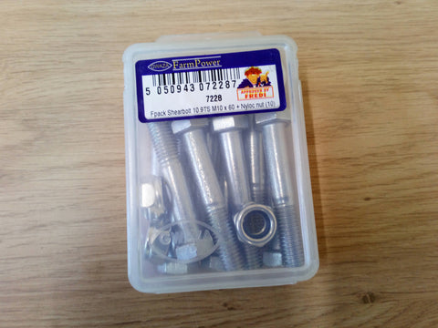 Gwaza Packet Of 10 10.9 M10x60 Shear Bolts