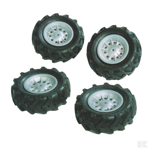 Set of pneumatic wheels (4 pcs.) silver