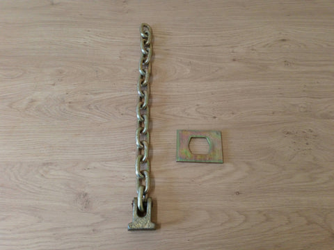 Flail Chain With Head And Plate (15 Links) 3/8""
