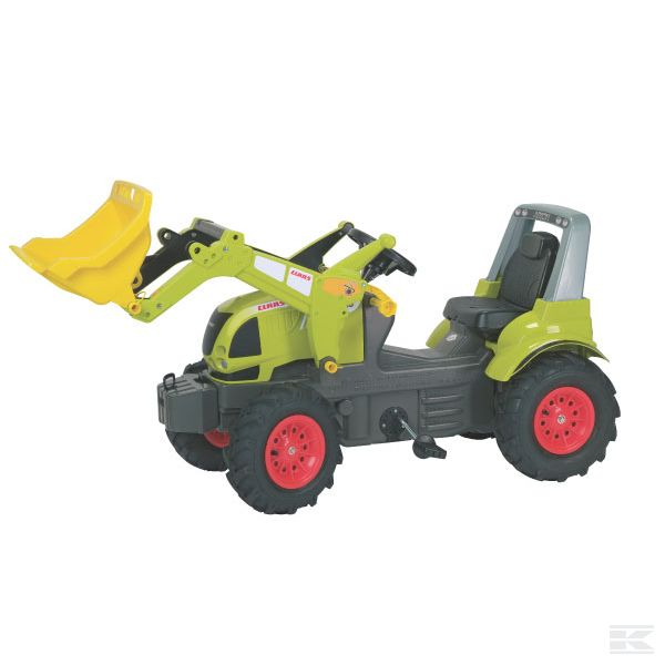 Claas Arion 640 with front loader and air wheels
