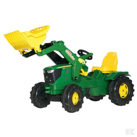 John Deere 6210R with front loader