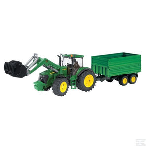 John Deere 7930 With Loader And Trailer Scale Model 1/16