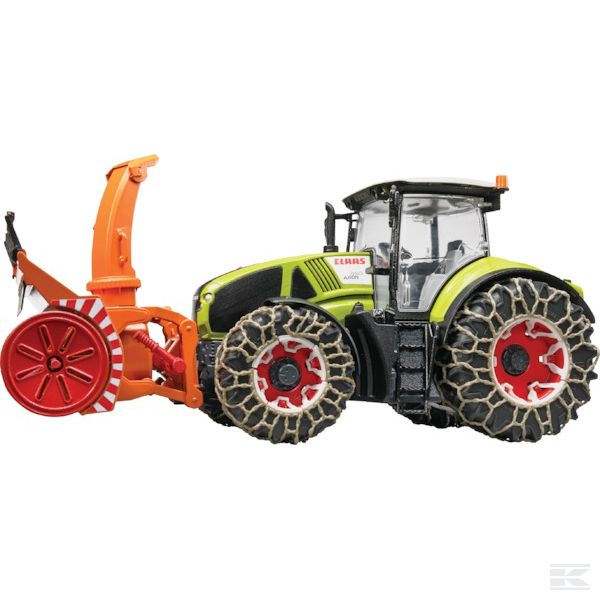 Claas Axion 950 with snow chains and snow blower Scale Model 1/16