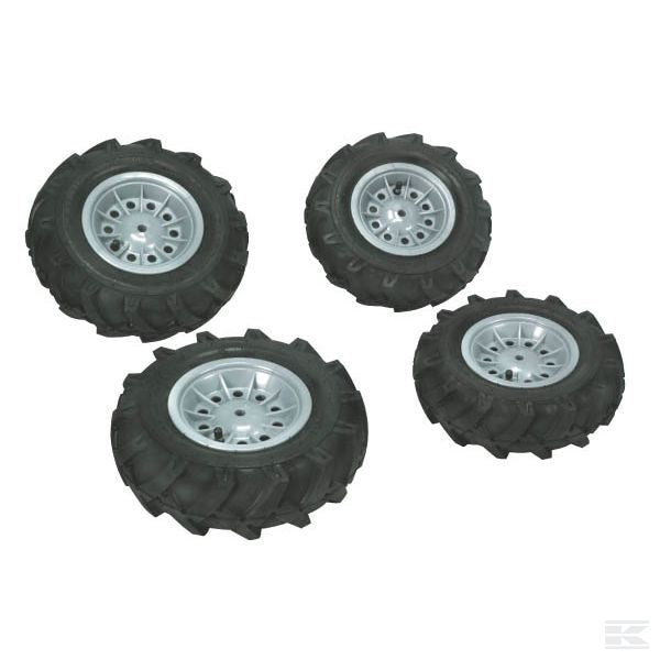 Set of pneumatic wheels (4 pcs.) silver for x trac
