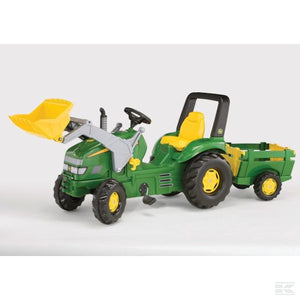 John Deere X-trac with trailer