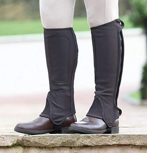 Shires Nubuck Synthetique Mini chaps - Enfants. - SHOP HORSE
