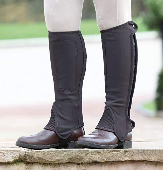 Shires Nubuck Synthetique Mini chaps - Enfants.