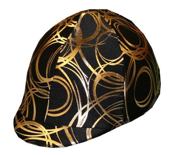 Fun Toque d'Equitation Swirl D'Or