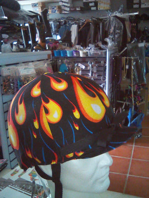 Fun Toque d'Equitation Flamme Noir - SHOP HORSE