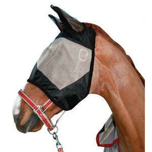 HKM Masque Anti Mouches Noir/Or - SHOP HORSE