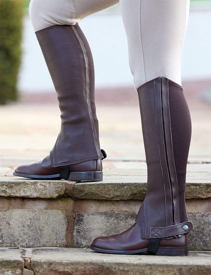 Shires Mini chaps Cantley en Cuir