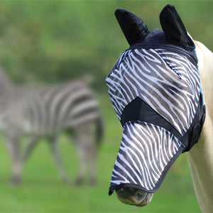 Shires Masque Anti Mouches Zebre - SHOP HORSE