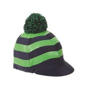 Shires Toque Stripes avec PomPom - Marine/Vert - SHOP HORSE