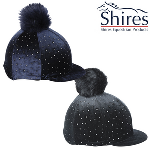 Shires Toque en Velour Sparkle - SHOP HORSE