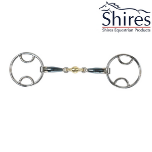 Shires Mors Bevel double brisure en Sweet Iron