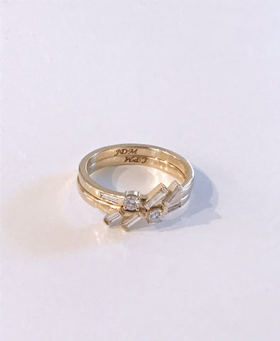 Baguette Diamond Redesign Ring in 14k Yellow Gold by Christina Atkinson Bexon Jewelry