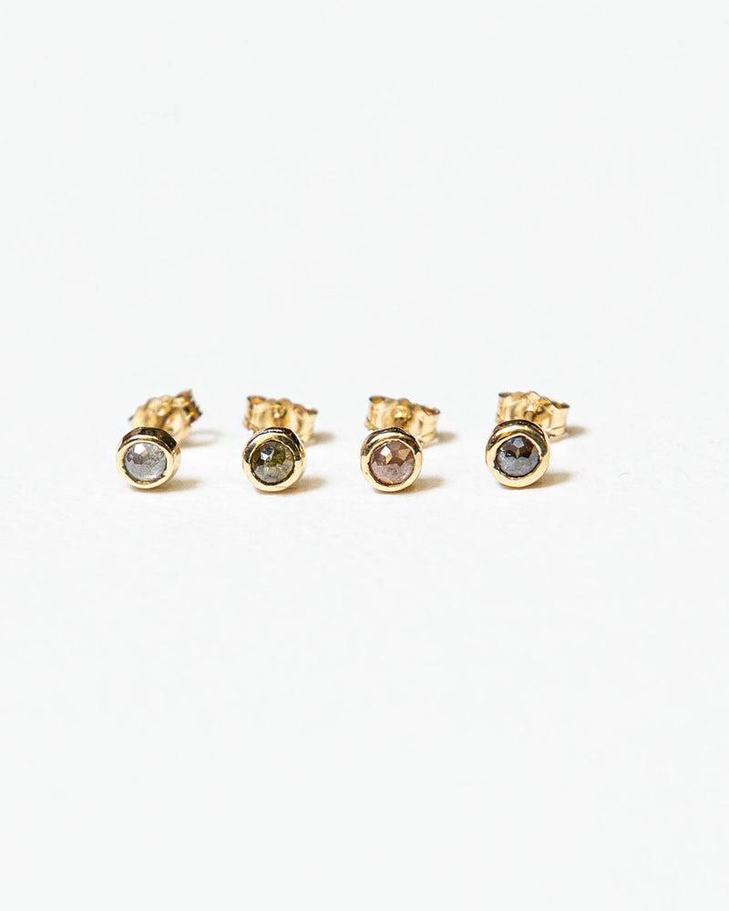 Single Rose Cut Diamond Stud