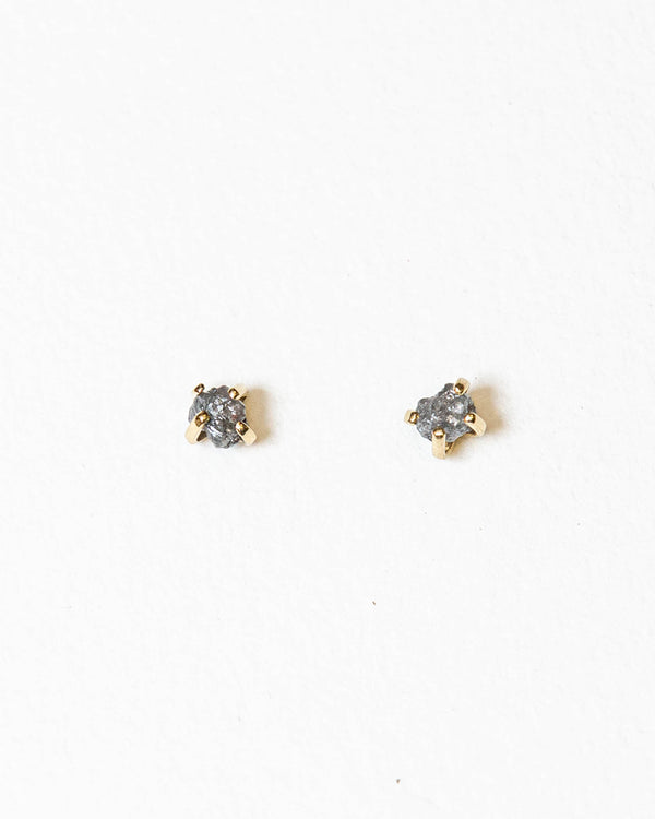 Grey Rough Diamond Studs