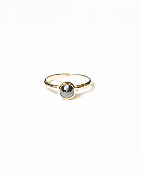 Dark Grey Galaxy Diamond Solitaire Ring