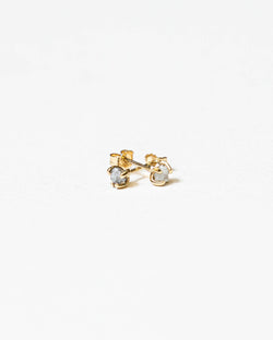 Bexon Jewelry  Rough Diamond Nugget Stud Earrings 14k Yellow Gold