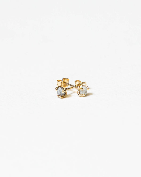 White Rough Diamond Studs