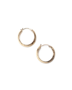 Bexon Fine Jewelry Gloria Hoop Earrings in 14k recycled yellow gold with hinge and catch closure