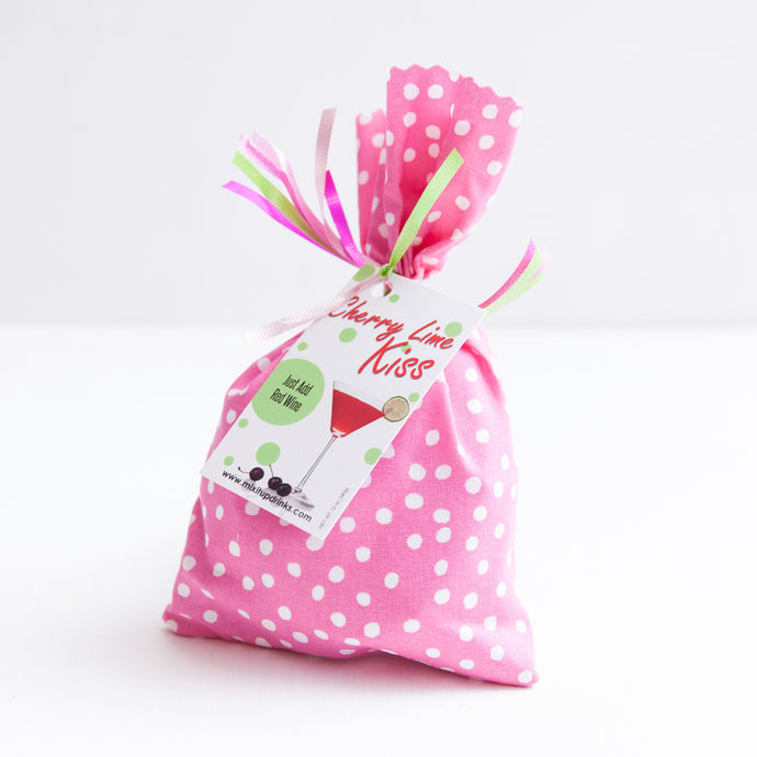 Cherry Lime Kiss - Slushy Wine Mix in Pink Bag