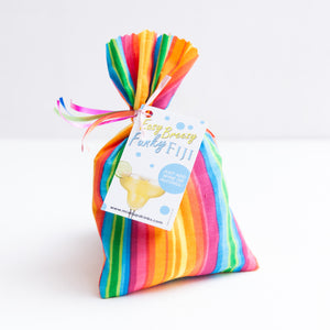 Easy Breezy Funky Fiji - Slushy Wine Mix in Rainbow Striped Bag